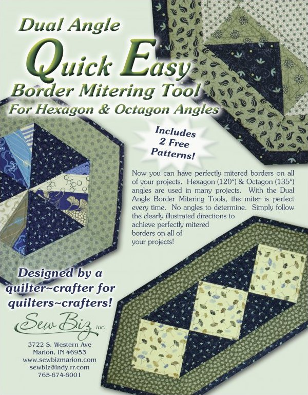 Dual Angle Quick Easy BORDER Mitering Tool for Hexagon and Octagon Angles