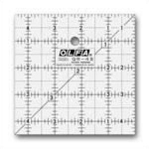 1071797  4 1/2 x 4 1/2  Frosted Acrylic Olfa Ruler  - The Charm
