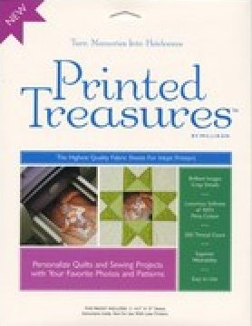 PT-100 Printed Treasures Printer Fabric Sheets White