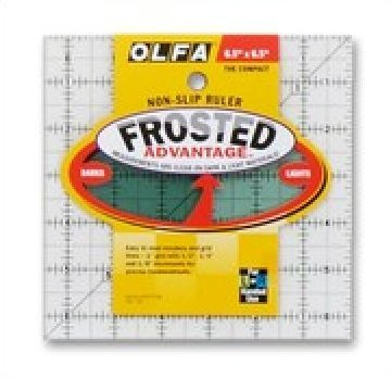 1071798  6 1/2 x 6 1/2  Frosted Acrylic Olfa Ruler - The Compact