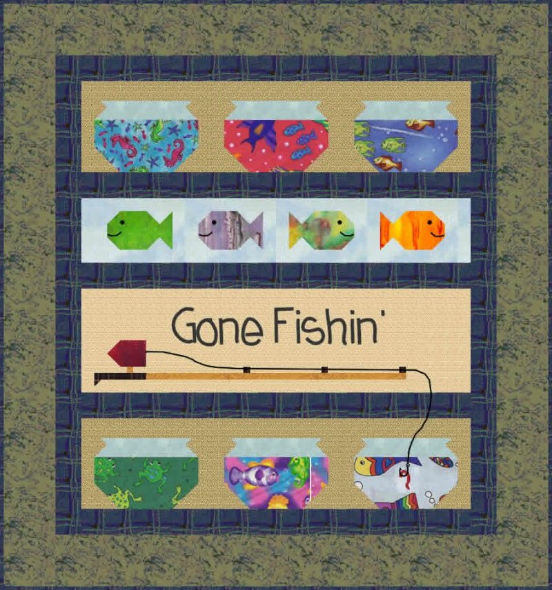 Gone Fishin' Boy Baby Quilt Pattern