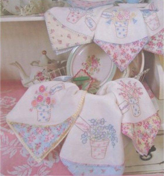 Hand Embroidered Tea Towel Patterns Towel Image