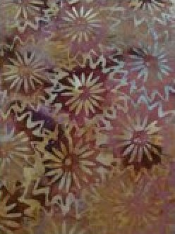 Batik Textiles 1246  Brown flowers