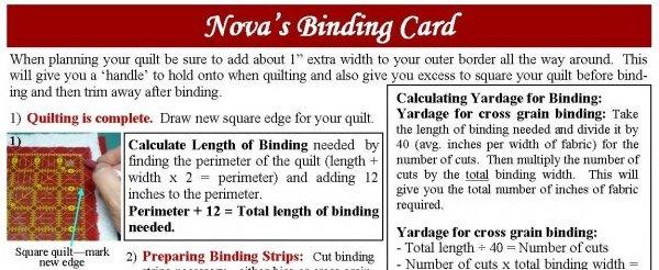 Nova's Binding Card