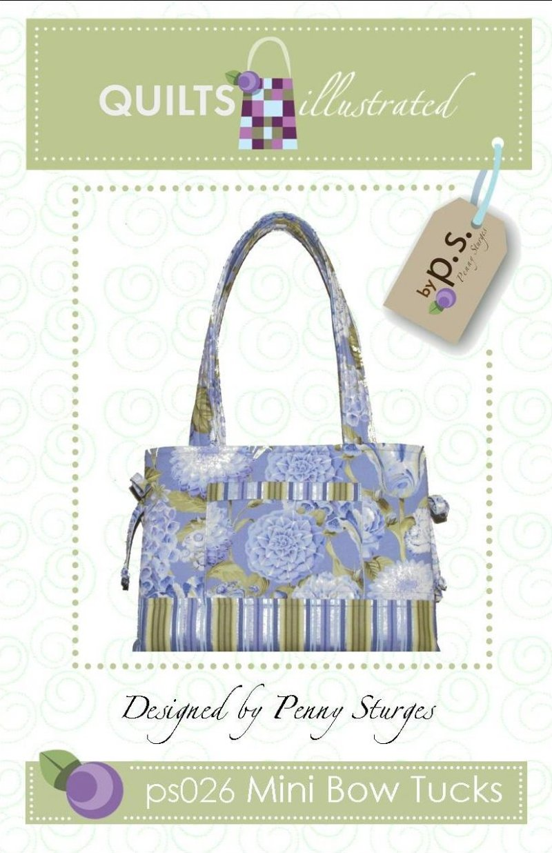 ps026 Mini Bow Tucks Tote Pattern