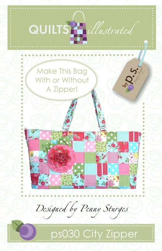 ps030 City Zipper Tote Pattern