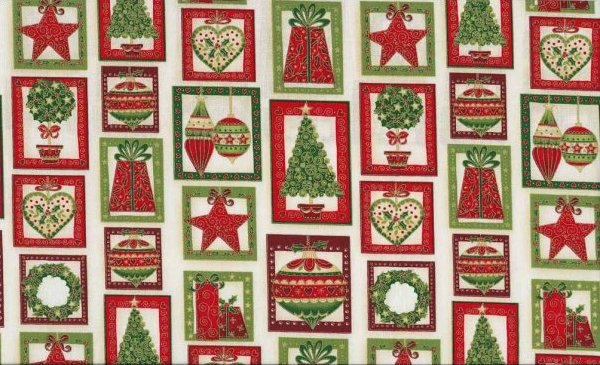 Joyful Christmas Panel Patchwork