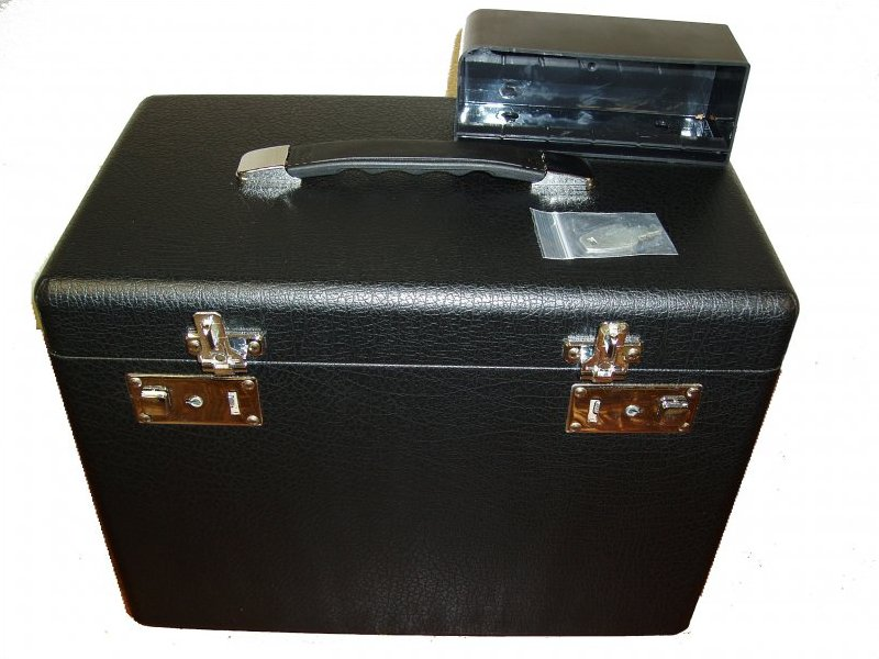 Case, Portable Carrying, Original Style Textured Black Covering, New Handle!