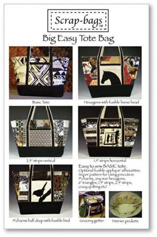 Big Easy Tote Bag by Scrap-bags Patterns