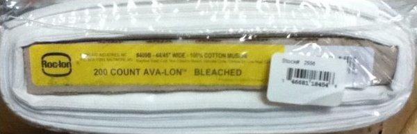Muslin, Roc-Ion Ava-Ion 200 thread count white 44