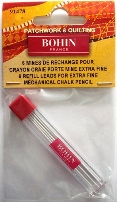 Chalk Pencil Refills 0.9mm - White  Bohin brand  **goes with Chalk Pencil refillable**
