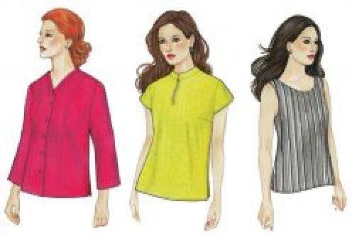 MixIt Shirt, Top & Tank sewing pattern