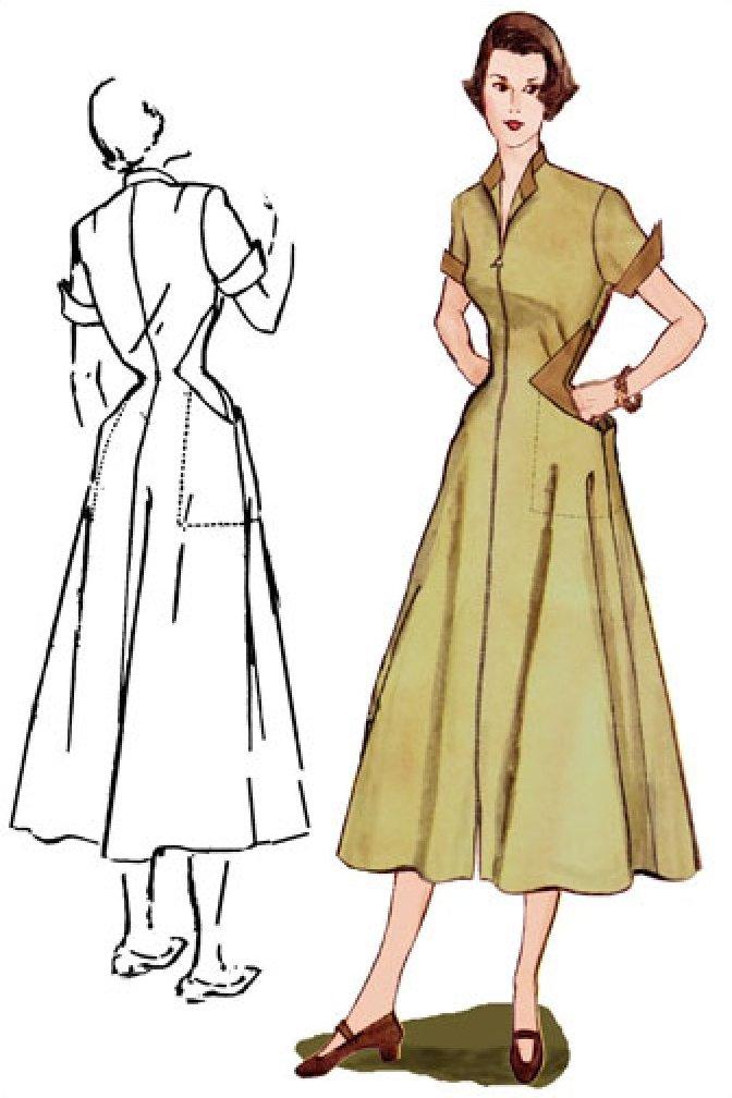 1950s Diamond Dress