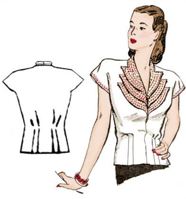 1940's Girl Friday Blouse