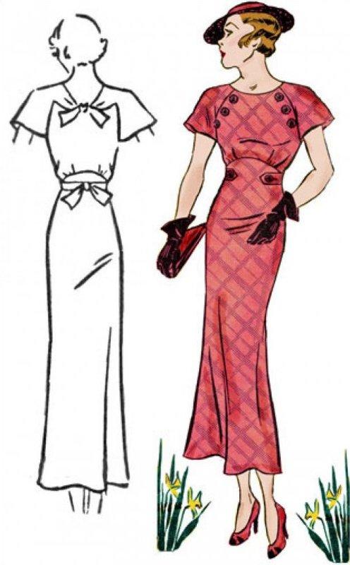 1930's Button Dress