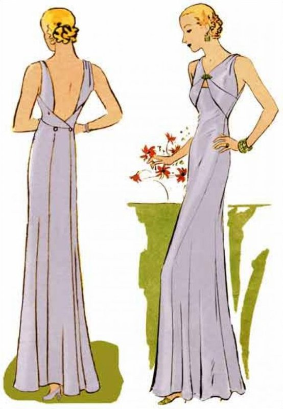 1933 Evening Gown - #3301