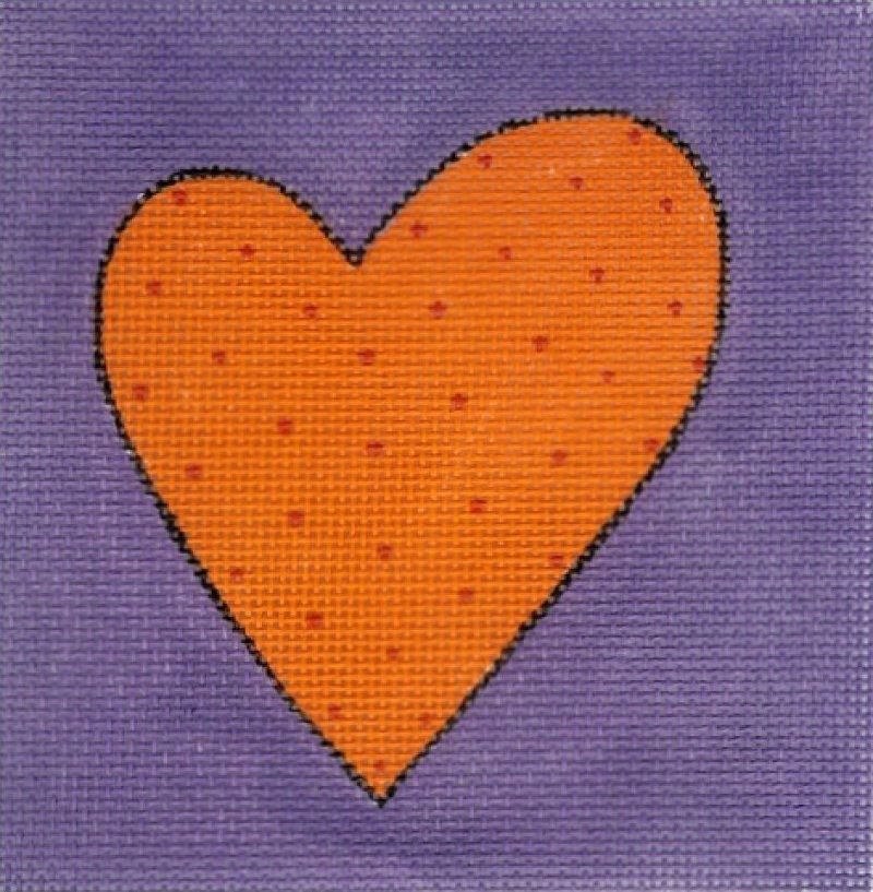 Orange/Purple Heart