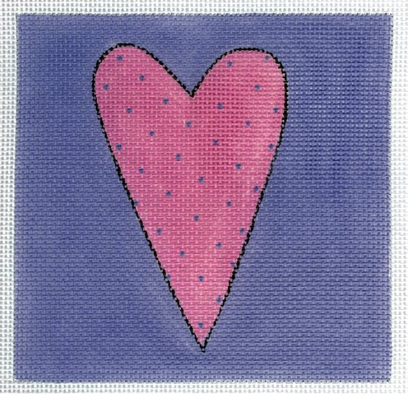 Pink and Periwinkle Heart
