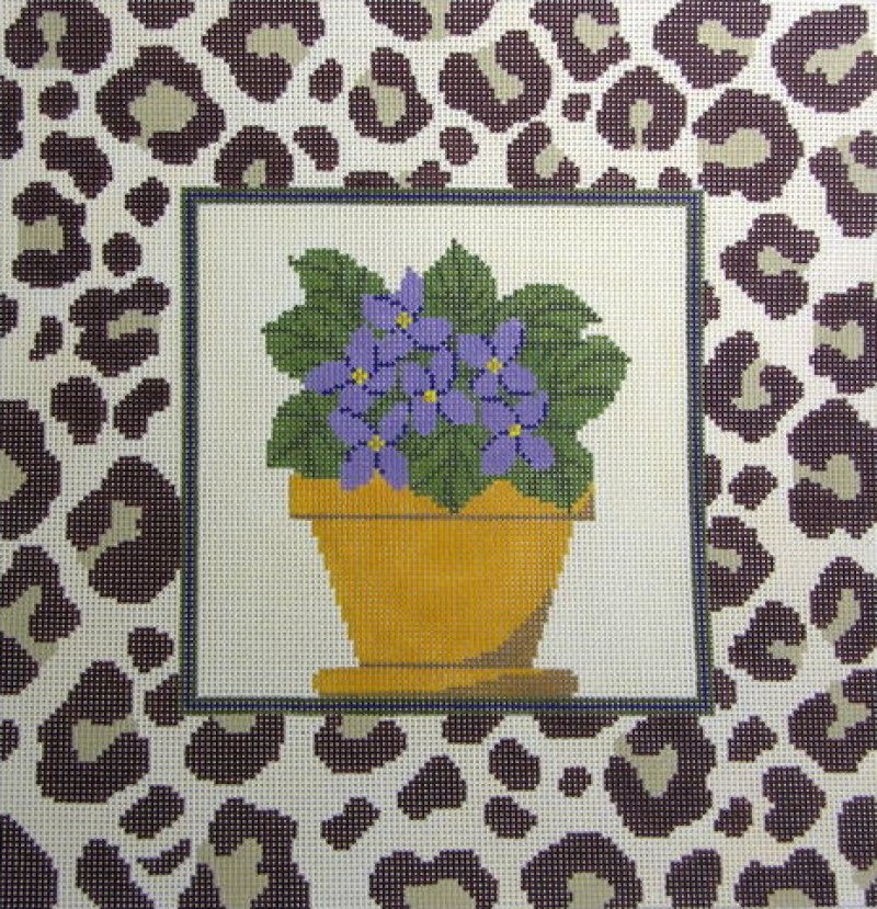 African Violet Pillow