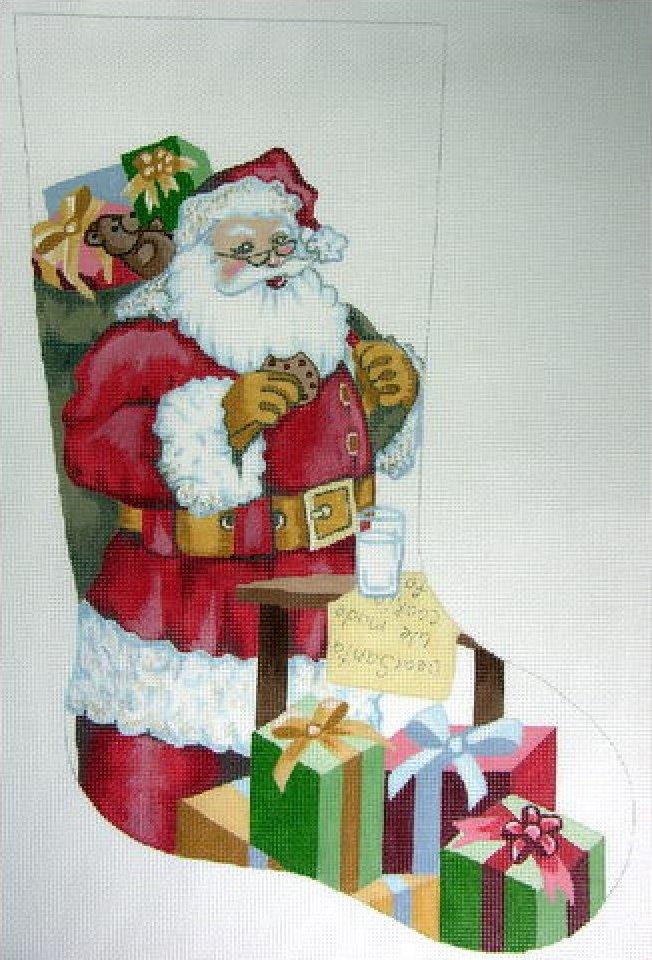 Santa with Milk & Cookies