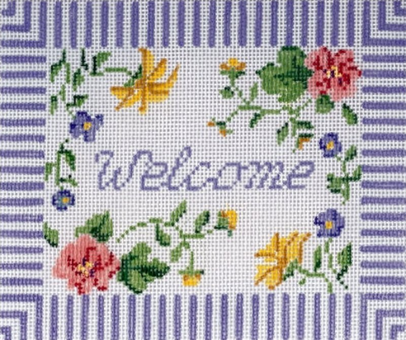 Blue Floral Welcome