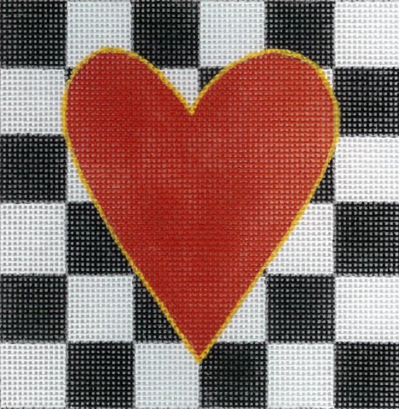 Red/Black & White Heart