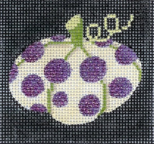 Mini Purple Polka Dot Pumpkin