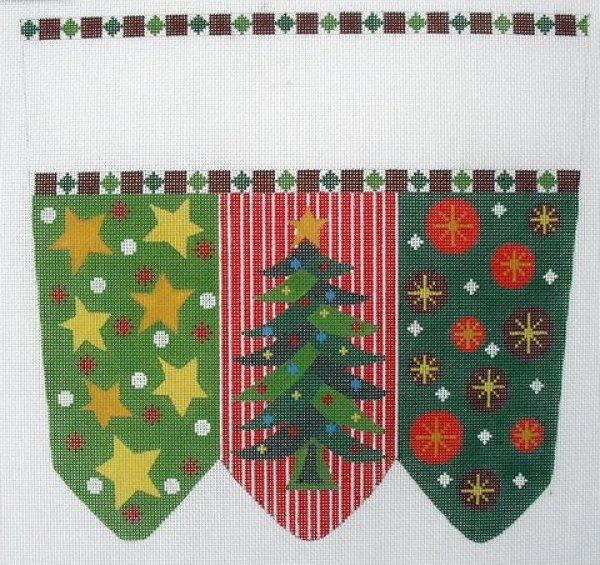 Christmas Tree Stocking Cuff