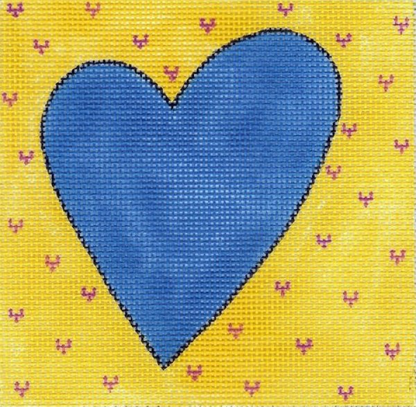 Blue & Yellow Heart