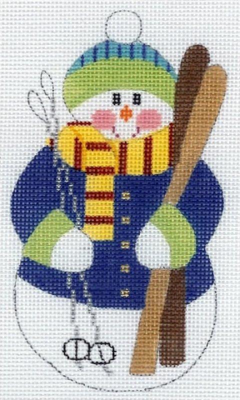Skiier Snowman