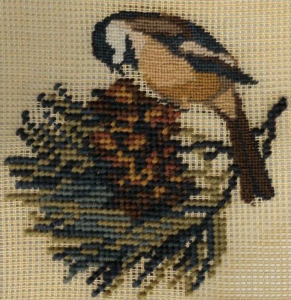 Chickadee & White Pinecone