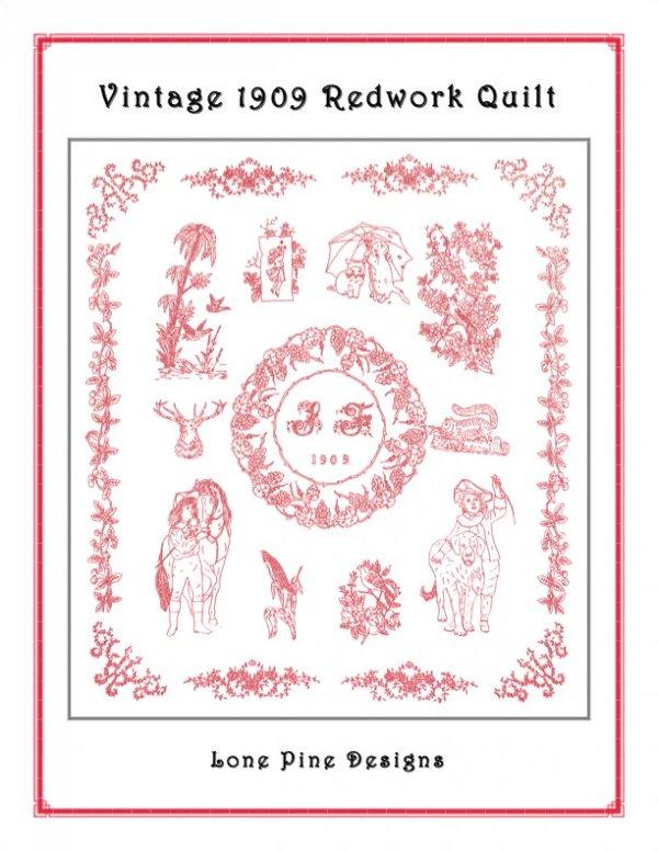 Vintage 1909 Redwork Quilt