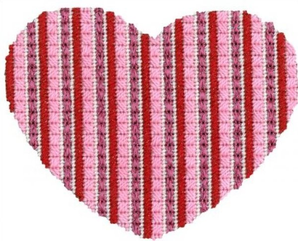 ASITV2 Striped Heart