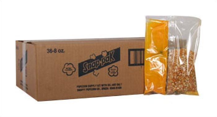 Snappy 6oz Popcorn Snap Packs 36/case