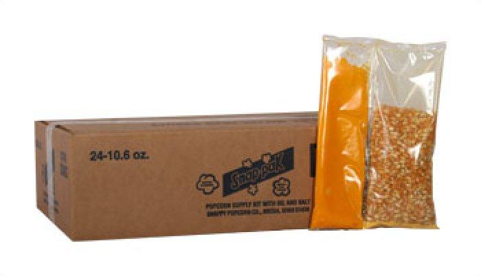 Snappy 8oz Popcorn Snap Packs 24/case
