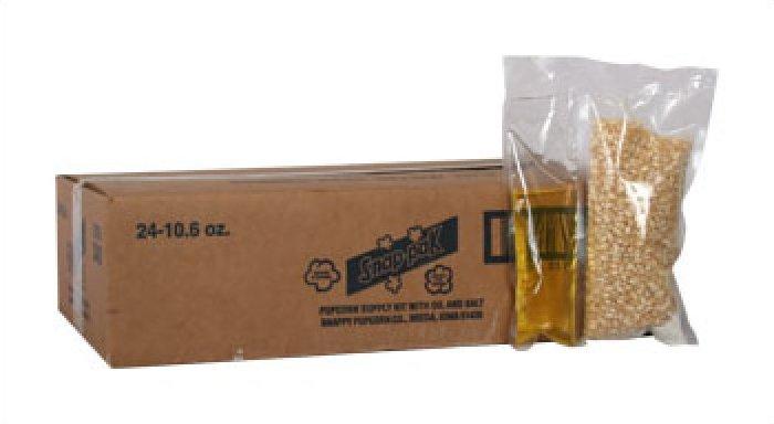 Snappy 8oz Popcorn Snap Packs White Corn 24/case