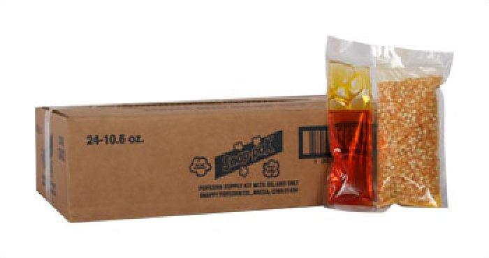 Snappy 8oz Popcorn Snap Packs Canola Oil 24/case