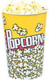 Yellow Popcorn Cups 24oz 100 count