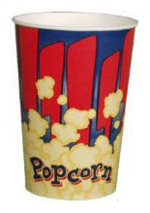 Red Popcorn Tubs 46oz 100 count