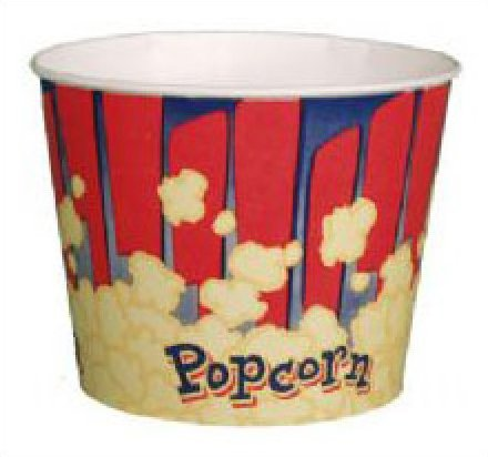 Red Popcorn Tubs 85oz 50 count