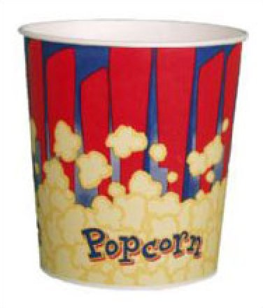 Red Popcorn Tubs 130oz 50 count
