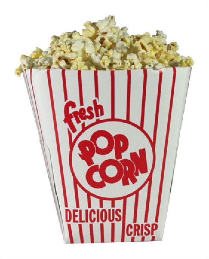Square Popcorn Tub 85oz 200/case