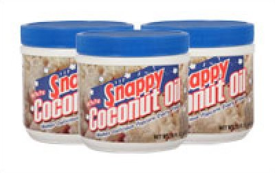 Snappy Pure (White) Snappy Coconut Oil 1# Jar 12/case