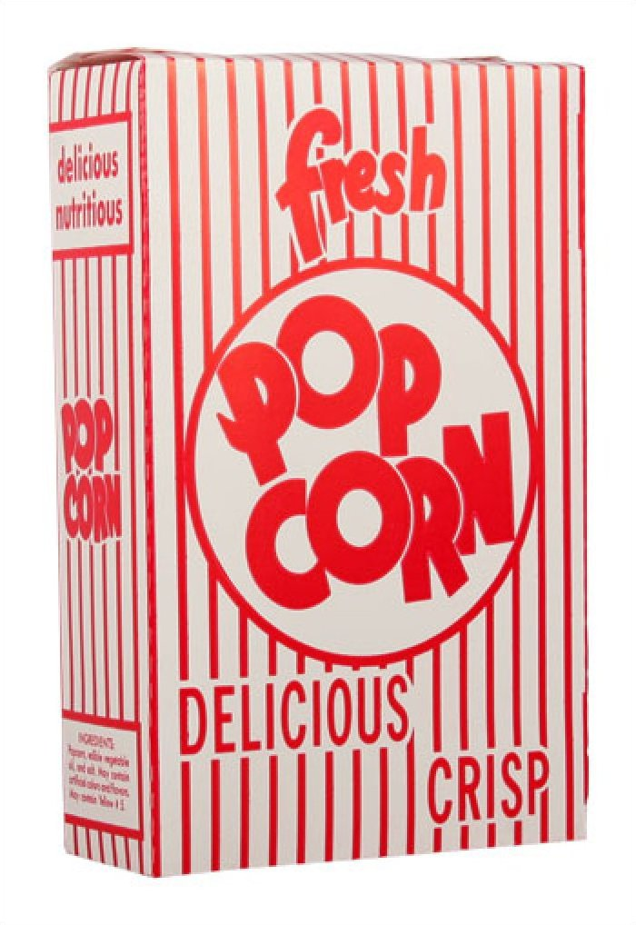 Closed Top Popcorn Boxes 3.3oz 250/Case