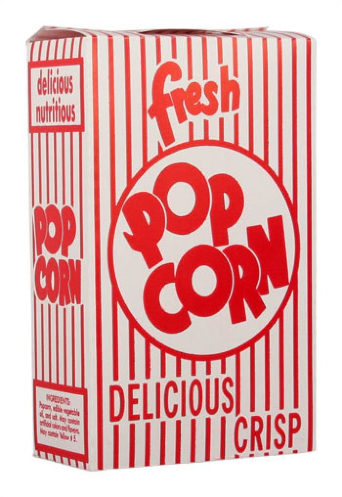 Closed Top Popcorn Boxes .75oz 100/Case