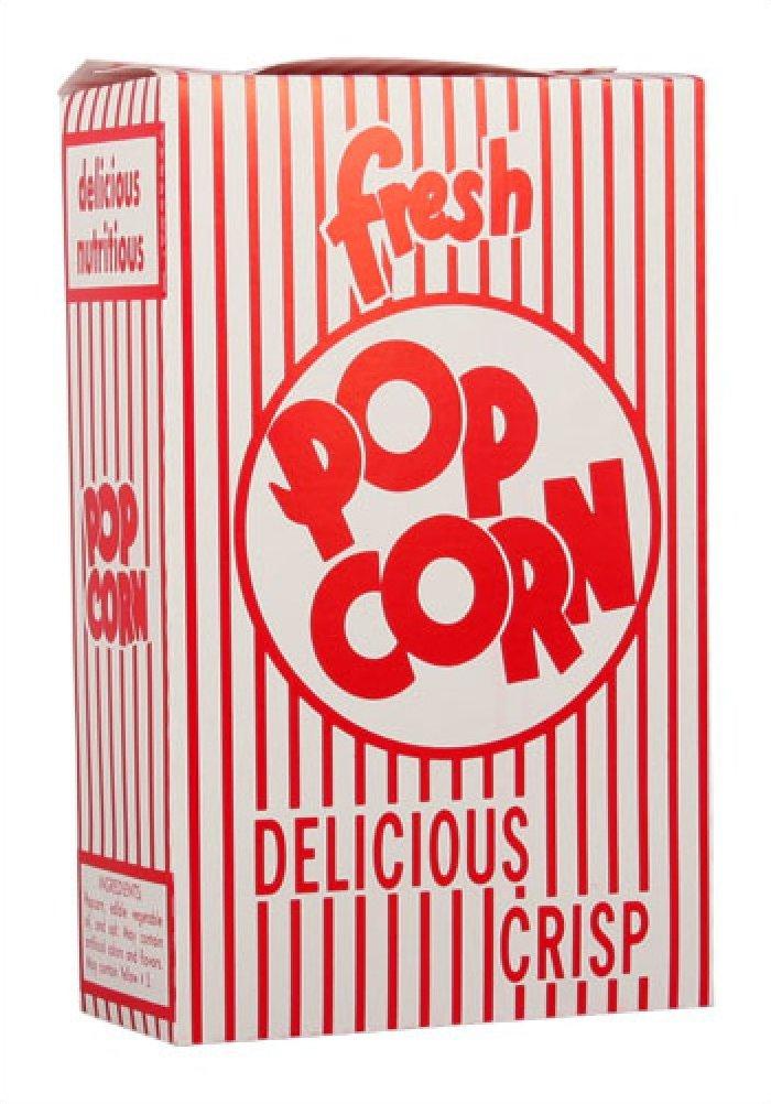 Closed Top Popcorn Boxes .95oz 500/Case