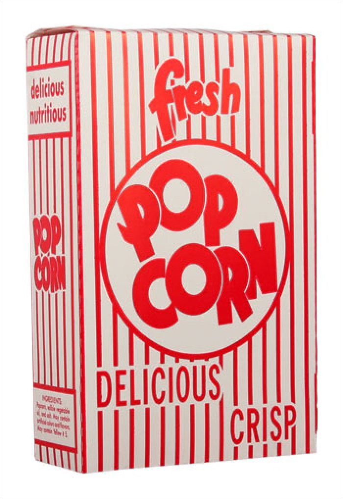 Closed Top Popcorn Boxes 1.25oz 500/Case