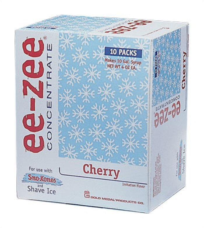 Ee-Zee Concentrates Snow Cone Syrup Mix - 1 Carton of 10 pouches
