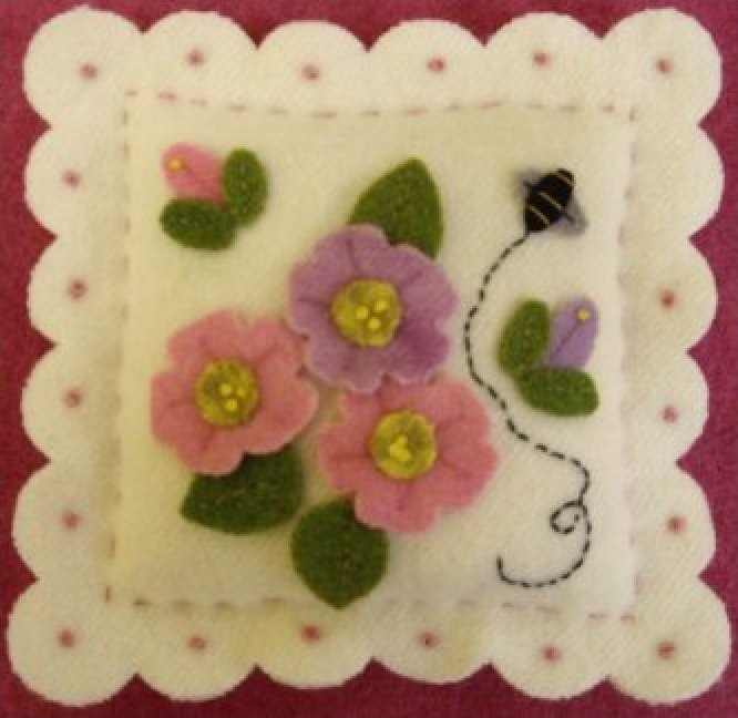 Road Side Roses Pincushion Kit