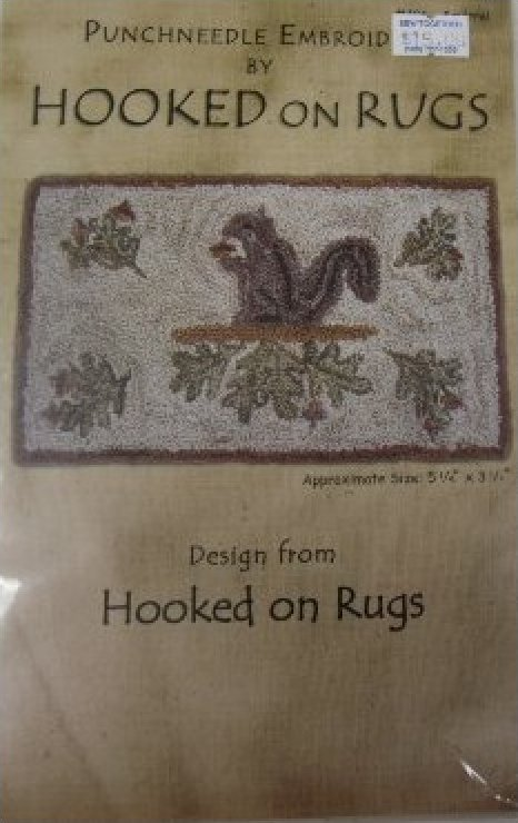Squirrel Hooked on Rugs